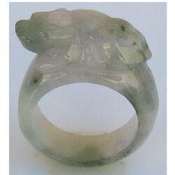 Bague Jade Blanc
