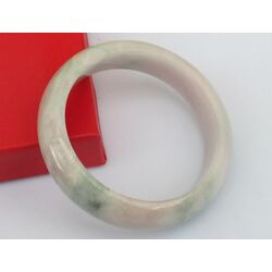 Bracelet Jade Blanc Vert Bonheur