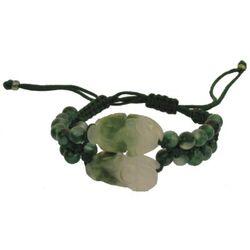 Bracelet Jade Dragon Motif Vert Bijouterie