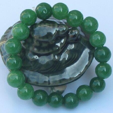 Bracelet Jade Perle Vert Vietnam